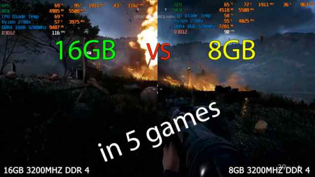 16gb vs 8gb ram ddr4 3200mhz